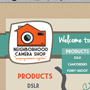CAMERA SHOP: HTML & CSS / Illustrator / Photoshop