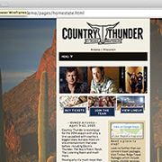 Country Thunder: Illustrator / Photoshop / Responsive / Country