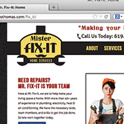 MR. FIX-IT: HTML & CSS / JAVASCRIPT / Illustrator / Photoshop