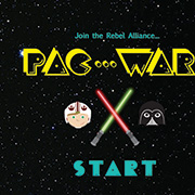 PAC-WARS Game: JAVASCRIPT / Illustrator / PACMAN / STAR WARS NERD
