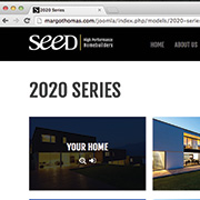 SEED Homes: Photoshop / Web Design / Print / Media Content / HTML / CSS / JOOMLA